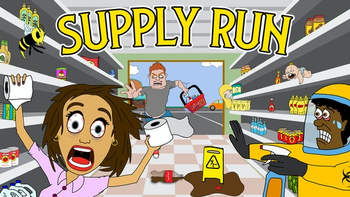 Supply Run: Grocery Shopping in 2020 board game