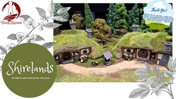 Shirelands: 3D Printable Halfling Village board game