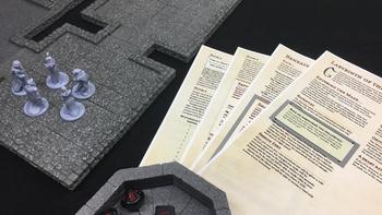 DrakenStone: Modular Magnetic Terrain board game