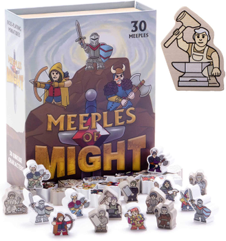 Meeples of Might: 16mm Wooden Meeples (Set of 30) board game
