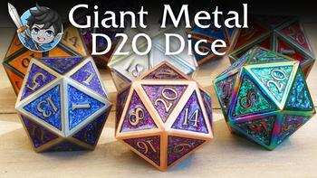 Giant Metal D20 Dice board game