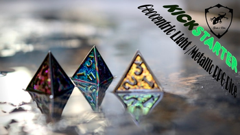 Geocentric Light /Metallic RPG Dice board game
