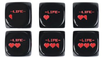 Legend of Zelda Inspired Pixel Heart Dice board game