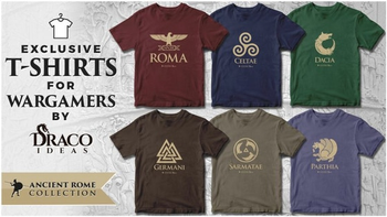 Ancient Rome T-shirts for wargamers board game