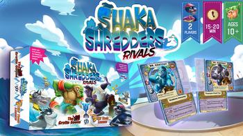 Shaka Shredders: A Magnetized, Craftable Card Game board game