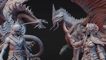 Dragonbond: Battles of Valerna 3D STL - Allaria & Tyveria board game