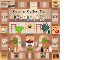Cats & Coffee Co. board game
