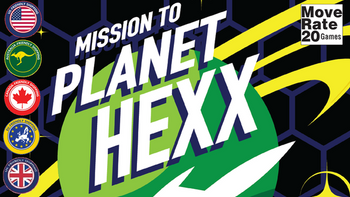 Mission to Planet Hexx! board game