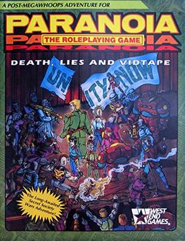 Death, Lies, Vidtape (Paranoia RPG) board game