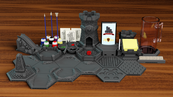 Pillars of Stone - 3D Printable Tabletop Accessories board game