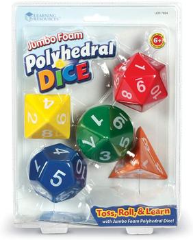 Polyhedral Dice (Set of 5): Jumbo Foam board game