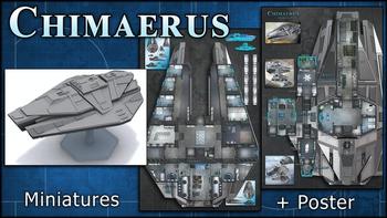 Chimaerus: Starship Maps & Miniature board game