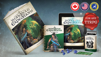Wondrous Expeditions: Forests - Roleplaying Guide board game