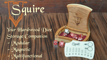 The Squire - Hardwood Dice Storage Companion board game