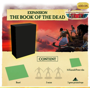 Kemet: Blood and Sand - Book of the Dead board game