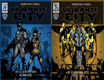 Survive This!! Vigilante City - Core Rules and Villain's Guide board game