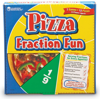 Pizza Fraction Fun board game