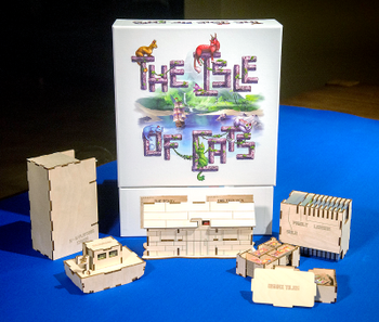 The Isle of Cats: Meeple Realty Cat Island Organizer