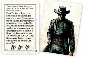 Western Legends: Man in Black Promo Card board game