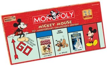Monopoly: Mickey Mouse 75th Anniversary board game