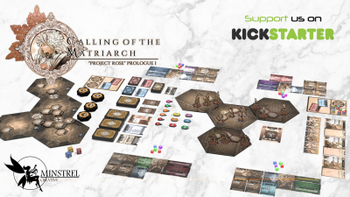 """""""CALLING OF THE MATRIARCH"""" Roleplaying Adventure Board Game board game"""