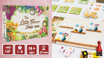 The Little Flower Shop Dice Game board game