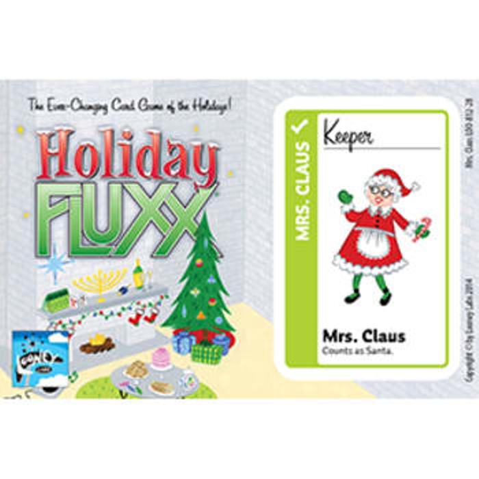 Holiday Fluxx: Mrs. Claus Promo Postcard