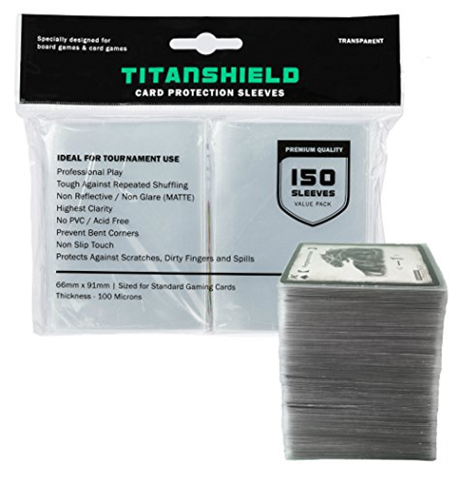 (150 Sleeves) Standard Size Board Game and Matte Card Sleeves