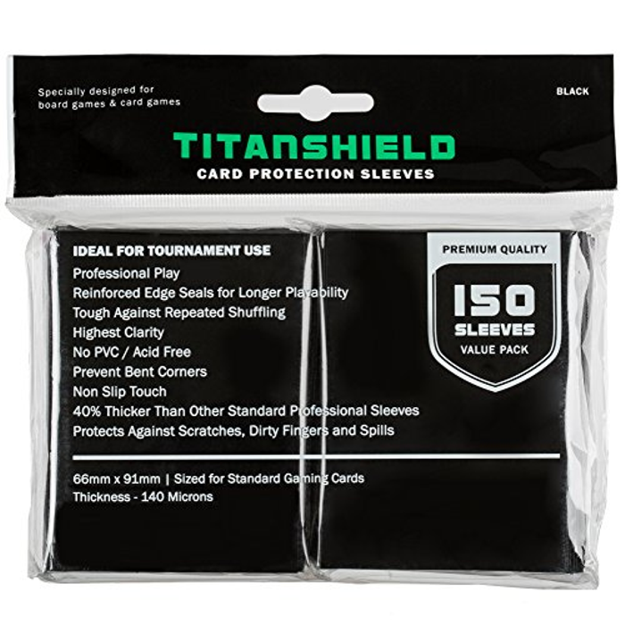 Standard Size Trading Card Sleeves Deck Protector (150 sleeves/Black)