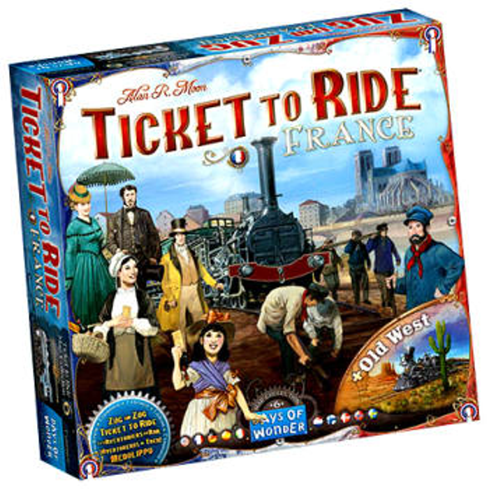 Ticket to Ride: France and Old West Expansion Map Collection 6