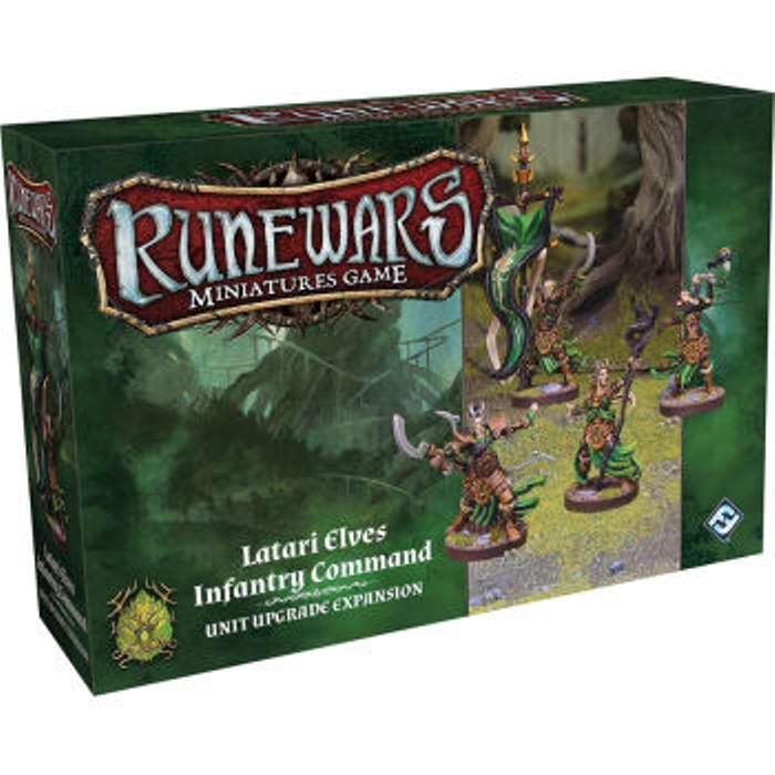 Runewars The Miniatures Game: Latari Elves Infantry Command Unit Upgrade Expansion