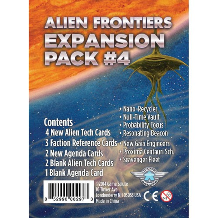Alien Frontiers: Expansion Pack #4