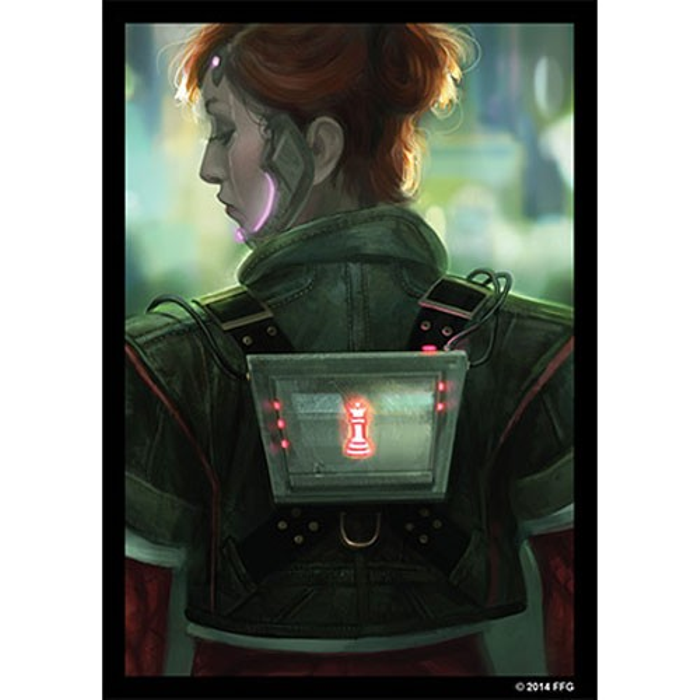 Fantasy Flight Card Sleeves: Android Netrunner - Deep Red (50)