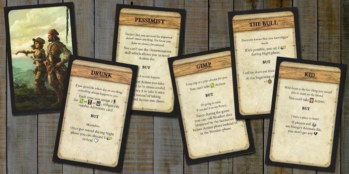Robinson Crusoe: Adventure on the Cursed Island – Trait Cards I