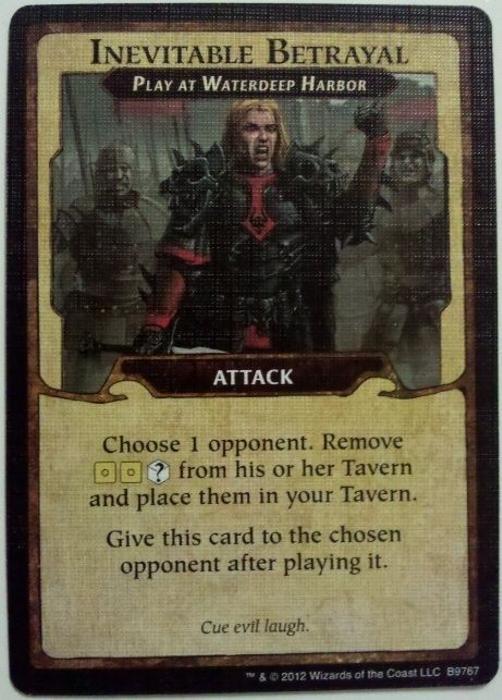 Lords of Waterdeep: Inevitable Betrayal Promo Card