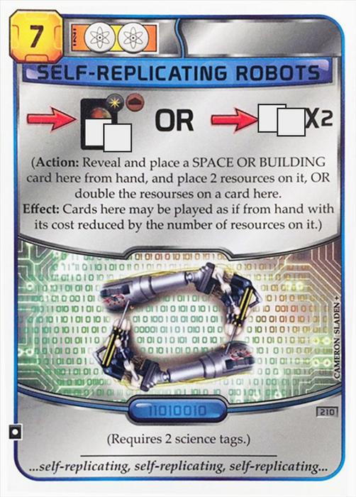 Terraforming Mars: Self Replicating Robots Promo Card