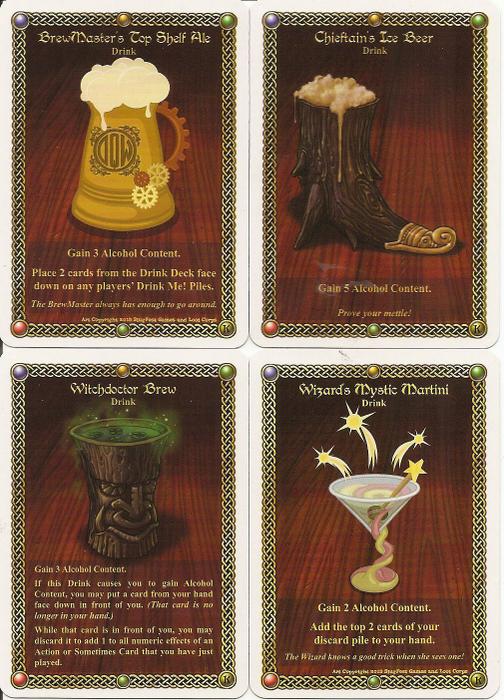 The Red Dragon Inn: Kickstarter Drink Cards