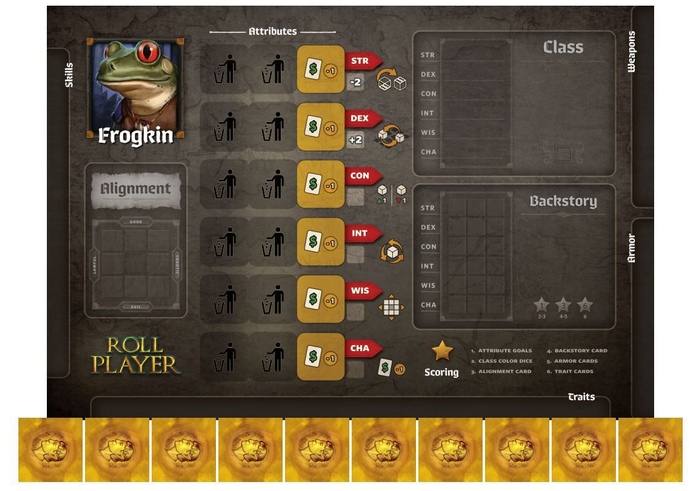 Roll Player: Frogkin Promo Punchboard