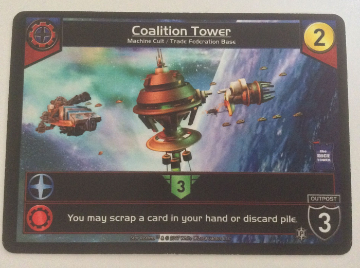 Star Realms: Coalition Tower Promo Card