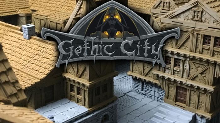 Tilescape GOTHIC CITY 3D Printable Modular Building System