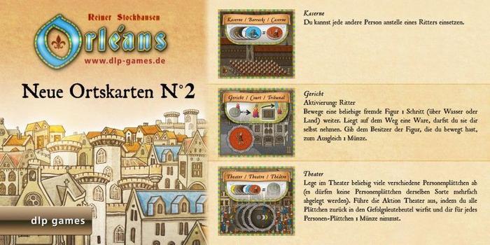 Orléans: Neue Ortskarten N°2