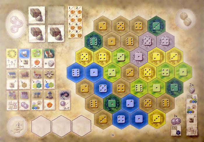 The Castles of Burgundy: 7th Expansion – German Board Game Championship Board 2016