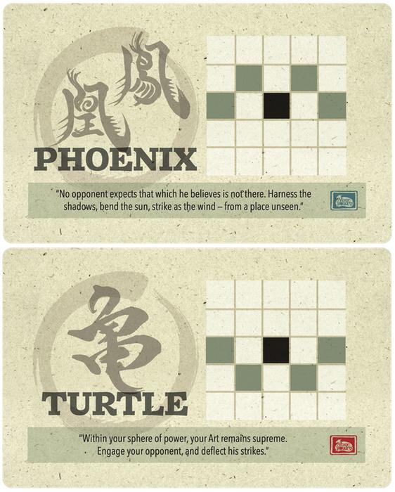 Onitama: Phoenix and Turtle