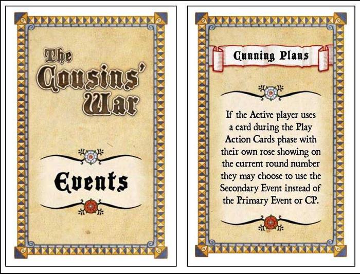 The Cousins' War: Events