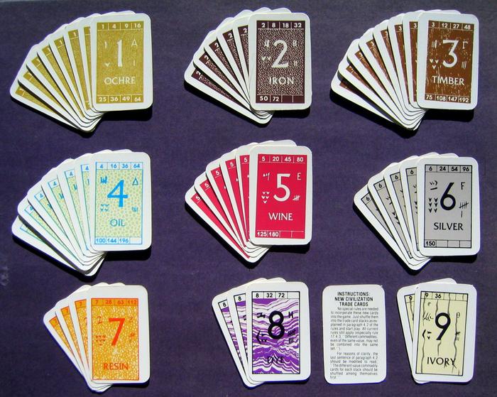 Civilization Expansion Trade Cards Set