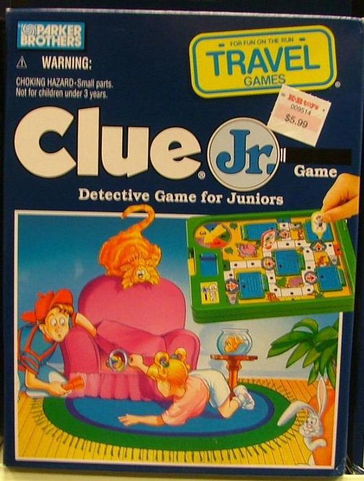 Clue Jr. Travel Game