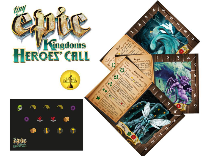 Tiny Epic Kingdoms: Heroes' Call – Deluxe Promo Pack and Mini Expansion