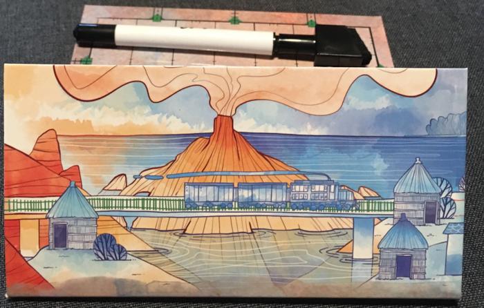 Railroad Ink: Promo Board #1 – Blue Train