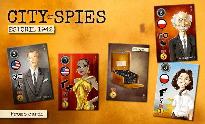 City of Spies: Promo cards