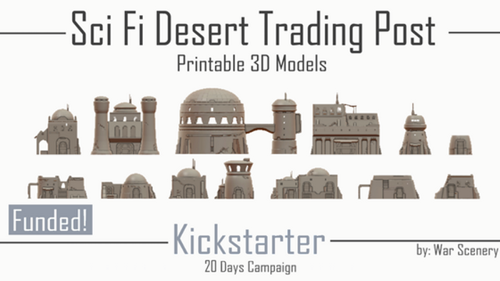 picture relating to Printable Terrain named Sci-Fi Desert Buying and selling Write-up - 3D Printable Terrain Board